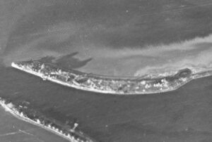 1942 German aerial photo of Kanonersky island spit