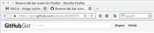 Breeze tab icons in Firefox