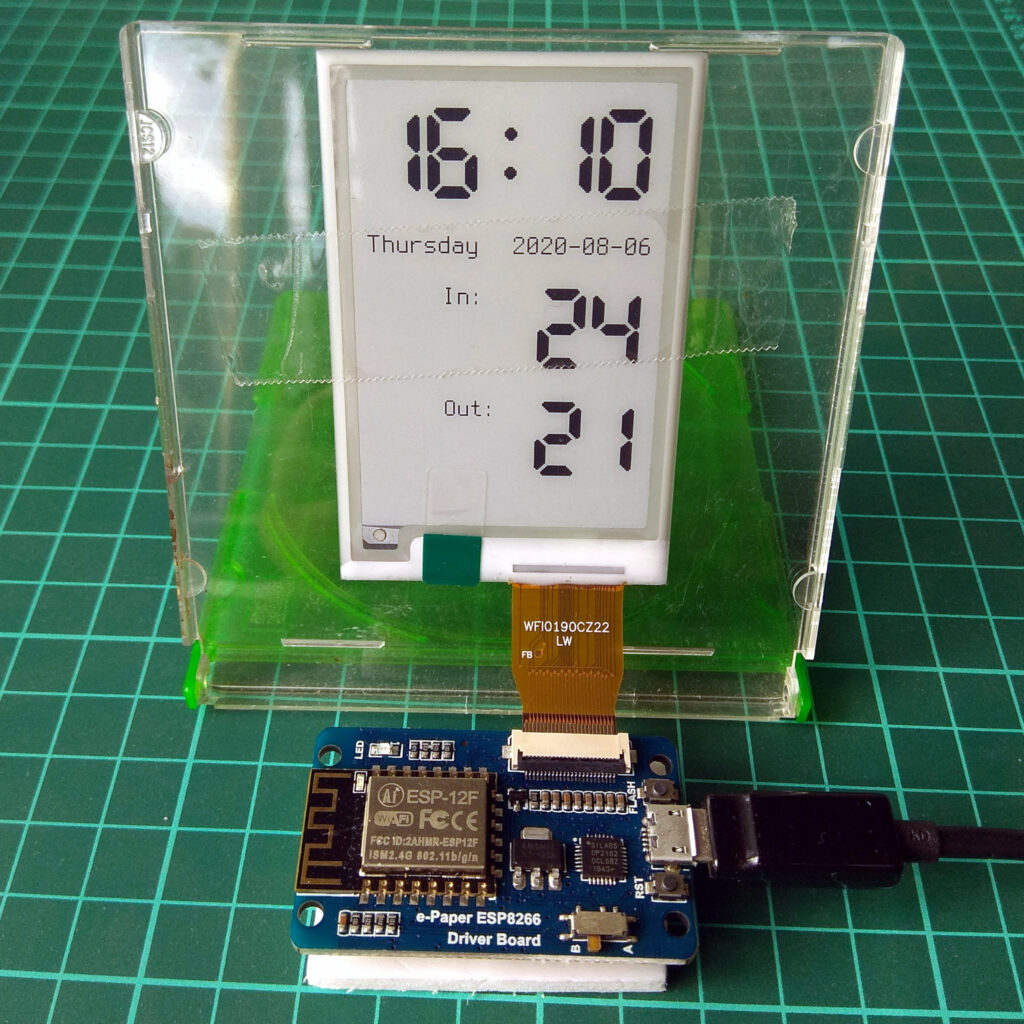 "2.7"" e-paper module with ESP8266 driver board"